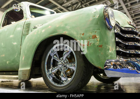 Chevrolet truck on display at the 2016 London Classic Car Show - Stock Photo