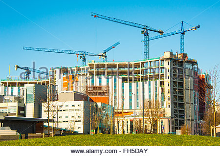 Carillion construction, the New Royal Liverpool. The construction of the New Royal Hospital. The construction by - Stock Photo