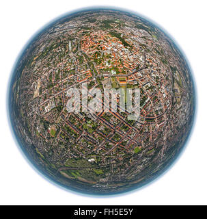 Aerial view, St. Mary's Church Old Town, Osnabruck, Lower Saxony, Germany, Europe, Aerial view, birds-eyes view, - Stock Photo