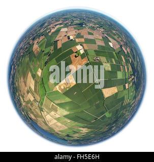 Luftbild, Felder, Parzellierung, kleine Felder, Erbteilung,  Bohmte, Niedersachsen, , Niedersachsen, Deutschland, - Stock Photo