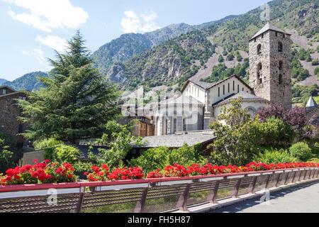 Beautiful view of Andorra La Vella, capital of Andorra. - Stock Photo