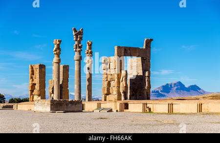 The Gate of All Nations in Persepolis, Iran - Stock Photo