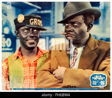 Amos 'n' Andy (Freeman Gosden and Charles Correll) in 'The Big Broadcast of 1936. - Stock Photo