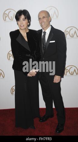 27th Annual Producers Guild Awards (PGA) - Arrivals  Featuring: Jeffrey Katzenberg, Marilyn Katzenberg Where: Los - Stock Photo