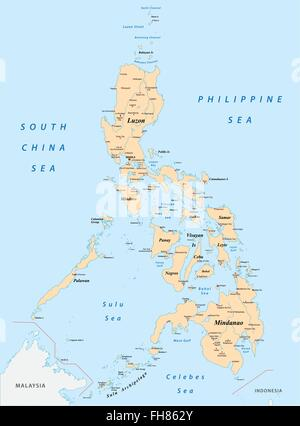 Philippines map - Stock Photo