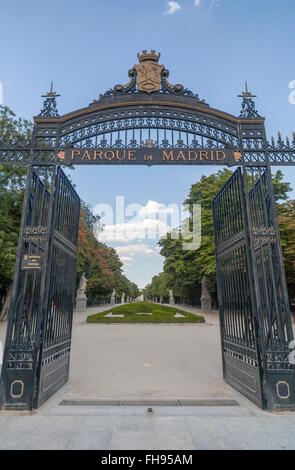 Madrid. Parque del Retiro. - Stock Photo