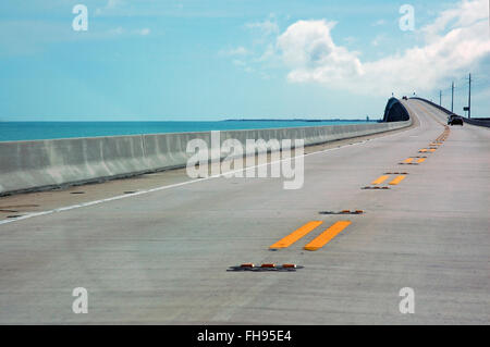 Miami, Florida, USA - June 2, 2007: Along the Overseas Highway, the road from Miami to Key West, the southernmost - Stock Photo