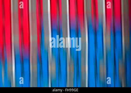 red and blue colourful blurred abstract - Stock Photo