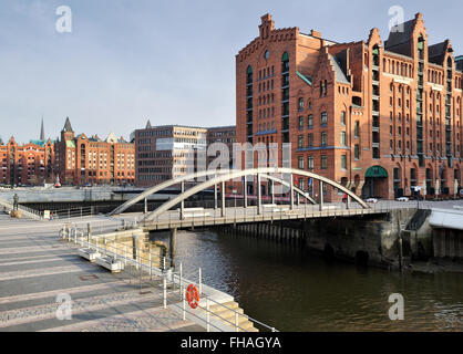 HAMBURG, Germany - International Maritime Museum, former warehouse, in Hafencity district - Stock Photo