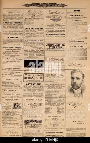 Penman's Art Journal and Teachers' Guide (1888) - Stock Photo