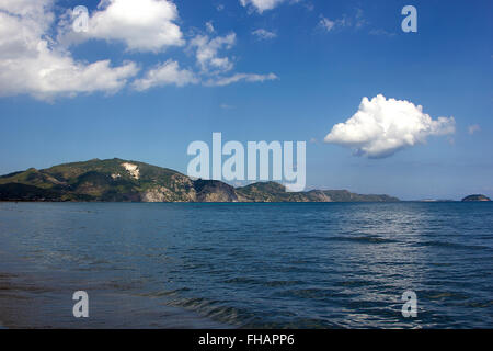 Cloud Reflection on the Sea and a View of Laganas Bay, Zakinthos/Zante, Greece - Stock Photo
