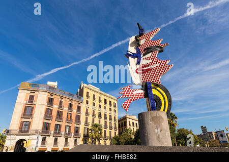 El Cap de Barcelona is a surrealist sculpture in Barcelona, Catalonia, Spain. - Stock Photo