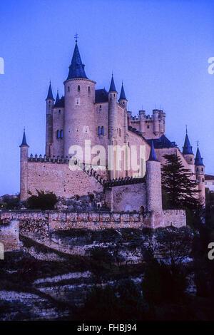 Alcazar, Segovia, Castilla-Leon, Spain - Stock Photo