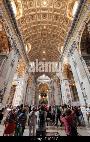 The St. Peters Basilica in Rome, Vatican - Stock Photo