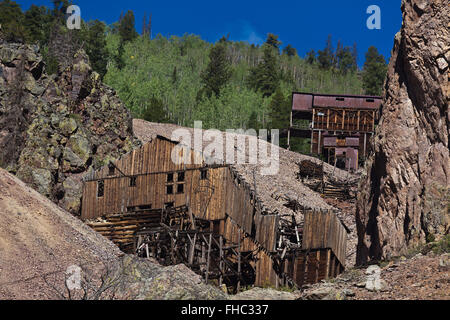 The BACHELOR MINE in CREEDE COLORADO where silver was mined until 1985