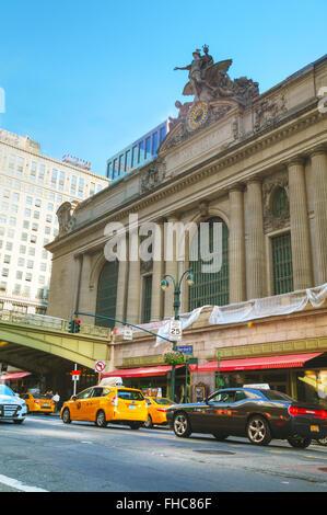 NEW YORK CITY - SEPTEMBER 05: Grand Central Terminal old entrance on September 5, 2015 in New York City. - Stock Photo