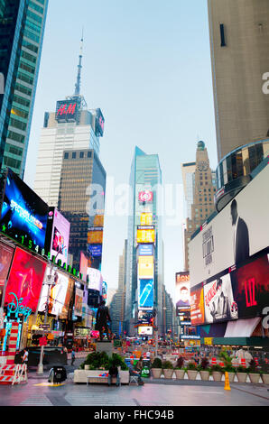 NEW YORK CITY - SEPTEMBER 04: Times square in the morning on October 4, 2015 in New York City. - Stock Photo