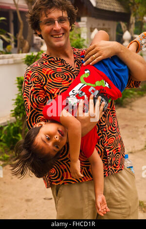 Bodhi Garrett and son - BAN XANGKHONG, LAOS  MR - Stock Photo