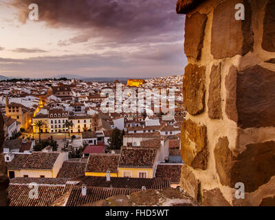 Sunset, monumental city Antequera, Malaga province. Andalusia southern Spain - Stock Photo