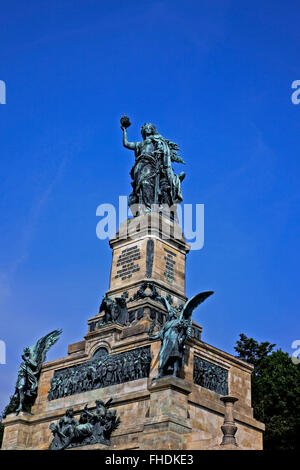 Niederwalddenkmal monument above Rudesheim, Germany - Stock Photo