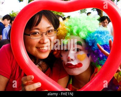Fun with Clowns - Stock Photo