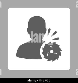 Body Execution Rounded Square Button - Stock Photo