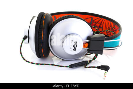 Marley Headphones on a White Background - Stock Photo