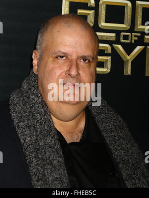 New York, USA. 24th Feb, 2016. Director ALEX PROYAS attends the New York premiere of 'Gods of Egypt' held at the - Stock Photo