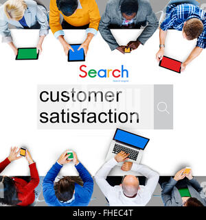 Customer Satisfaction Services Satisfied Concept - Stock Photo