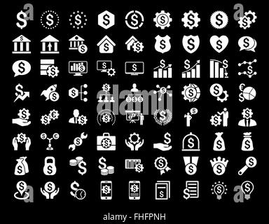 Financial Business Icon Set - Stock Photo
