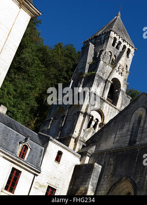 Saint Pierre Abbey in Brantome France - Stock Photo
