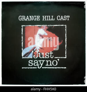 Front cover of classic Drug awareness track 'Just Say No' 7' Single released in 1986 performed by the cast of 'Grange - Stock Photo