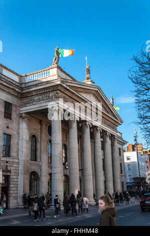 Exterior of The General Post Office GPO in Dublin, Ireland the headquarters of the Irish Post Office, An Post - Stock Photo