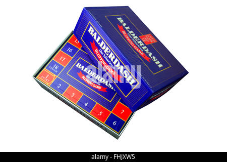 Balderdash bluffing board game on a white background - Stock Photo