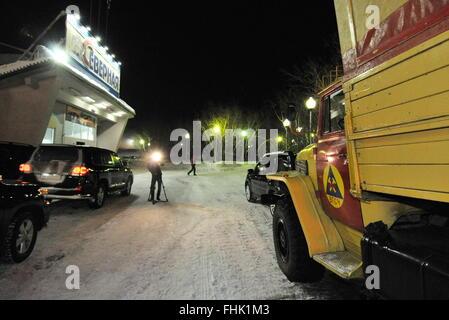 Vorkuta, Russia. 25th Feb, 2016. The Severnaya coal mine of the Vorkutaugol coal producer where a rock burst occurred. - Stock Photo