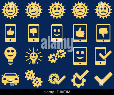Tools and Smile Gears Icons - Stock Photo