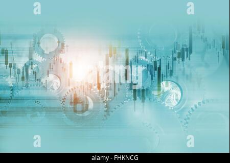 Economy Mechanisms Abstract Business Background Illustration. - Stock Photo