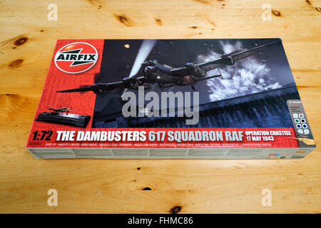 Airfix 1:72 scale model of a Lancaster heavy bomber of the Dambusters 617 Squadron - Stock Photo
