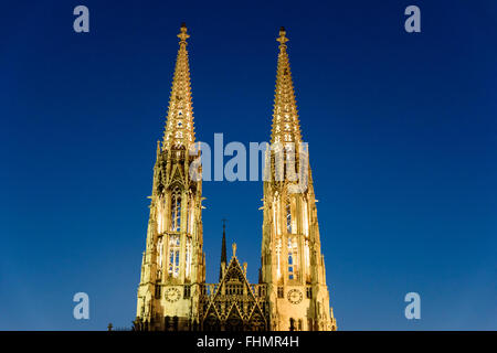Built In 1879 The Votive Church Votivkirche is a neo-Gothic church located on the Ringstrasse in Vienna, Austria. - Stock Photo