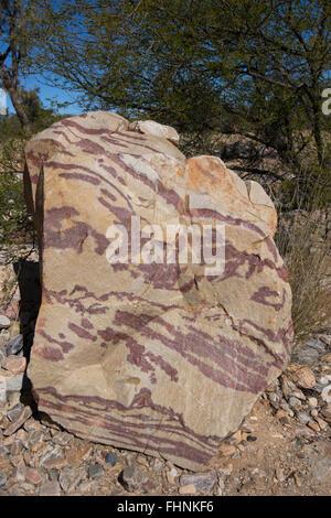 Rock Formation, Ellery Creek Big Hole, Northern Territory, Australia - Stock Photo