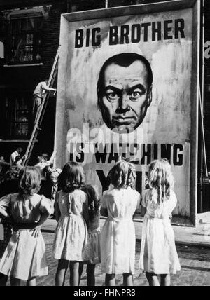 BIG BROTHER IS WATCHING POSTER 1984; NINETEEN EIGHTY-FOUR (1956) - Stock Photo