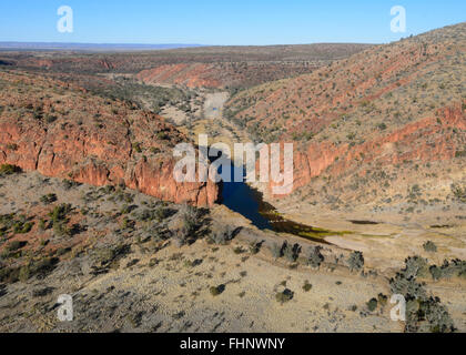 Aerial View of the West MacDonnell Ranges, Northern Territory, Australia - Stock Photo