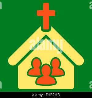 Church icon from Business Bicolor Set - Stock Photo