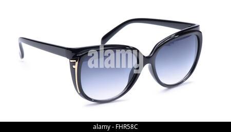 Black sunglasses isolated on a white background - Stock Photo