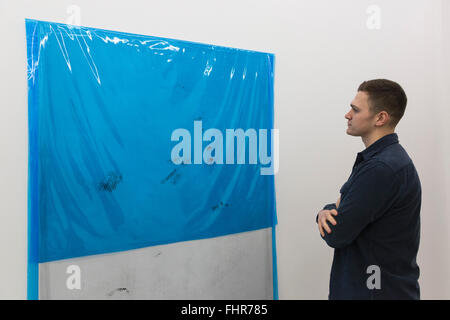 London, UK. 25 February 2016. Fold Gallery opens the solo exhibition CMYK of German artist Michaela Zimmer. The - Stock Photo