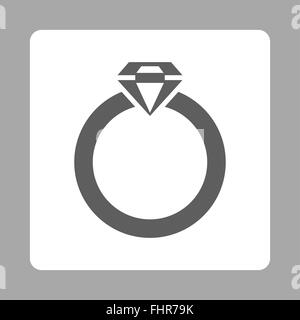 Diamond Ring Icon from Commerce Buttons OverColor Set - Stock Photo