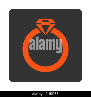 Diamond Ring Icon - Stock Photo
