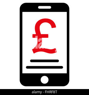 British Pound Mobile Payment Icon - Stock Photo