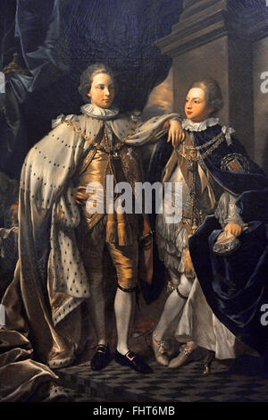George IV (1762-1830). King of England and Frederick of York (1763-1827). Sons of George III. Portrait of George, - Stock Photo