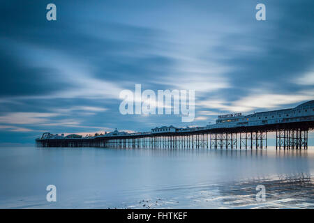Evening at Brighton Pier, East Sussex, England. - Stock Photo